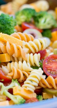 Easy Pasta Salad with Zesty Italian Dressing ~ Packed with flavor and crispy fresh broccoli then marinated with a zesty Italian dressing... Leftovers are the best!