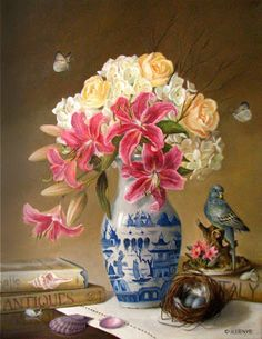 JEANNE ILLENYE - Still Lifes: floral painting