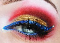 Makeup inspired by Iron Man.