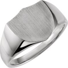 Customize Engraved Sterling Silver Shield Signet Ring - click to get yours right now!