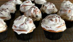 Cinnamon Roll Cupcakes (made from cinnamon bread dough, but they look awesome and are in cupcake form)