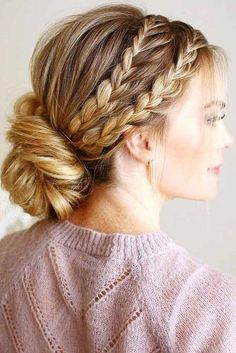 Braided Hairstyles For Sports,feathered hairstyles emo ideas.Wedge Hairstyles Face Shapes,funky hairstyles color,wedding hairstyles short and boho hairstyles winter ideas. Hairstyles For Long Hair Easy, French Braid Hairstyles, Older Women Hairstyles, Box Braids Hairstyles, Bride Hairstyles, French Braids, Wedge Hairstyles, Holiday Hairstyles, Hairstyle Ideas