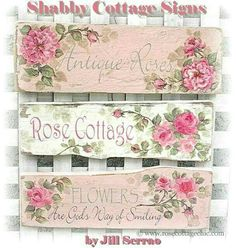 Shabby Cottage Signs