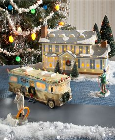Department 56 Collectible Figurines, Snow Village National Lampoon's Christmas Vacation Collection - Holiday Lane - Macy's