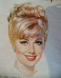 Snygg teckning från en annons för schampo i tidningen Femina från 1950-talet.