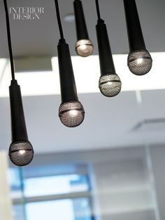 Mic Pendant Lights for Music Room