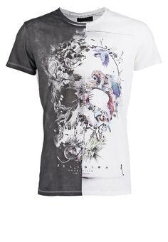 Religion SKULL ILLUSION - T-Shirt print - white/black - Zalando.de