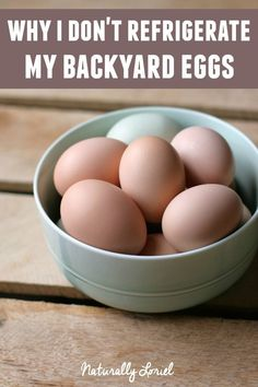 Mother Nature and Chickens have an awesome trick up their sleeve to keep eggs fresh. This trick is why I don't refrigerate my backyard eggs. Find out more!