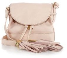 See by Chloe Vicki Pebble Leather Flap Bucket Bag