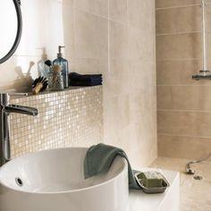 Leroy merlin beige, Faïence mur marbre beige brillant x cm, Murano Taupe Bathroom, Marble Bathroom Floor, Natural Bathroom, Wall And Floor Tiles, Bathroom Flooring, Modern Bathroom, Large Bathrooms, Amazing Bathrooms, Murs Beiges