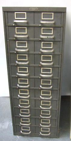11 Drawers Tooling Storage Tool Parts Vintage Metal Cabinet Monarch  20x29x52 | EBay