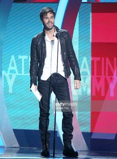 Enrique Iglesias speaks onstage during the 17th Annual Latin Grammy Awards held at T-Mobile Arena on November 17, 2016 in Las Vegas, Nevada.