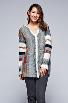Summer night bonfires or autumn hikes in the mountains...this versatile pullover sweater with hood has you covered in cozy comfort!