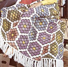 Tiffany's Hexagon Granny Squares Crochet Blanket Pattern