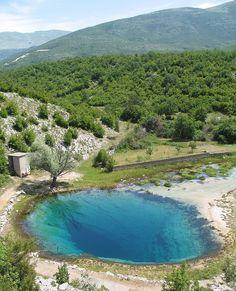 Here the Cetina river comes above ground. Cetina, Croatia.