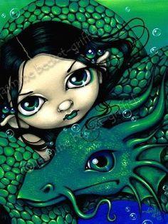 Mermaid and Her Sea Serpent