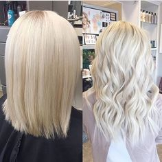Before and After: Platinum White Extensions by @hairbylindseypruitt  #hair…