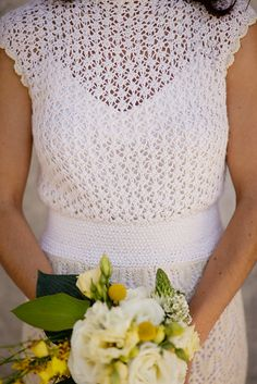 knitted wedding dress bodice; I would wear this for renewing my vows or for the wedding shower