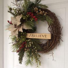 Christmas Wreaths-Holiday Wreath-Rusty Sleigh by ReginasGarden