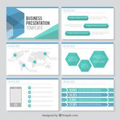 modelo de apresentação de negócios Hexagonal Vetor grátis