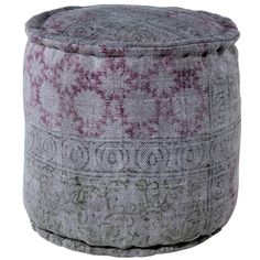 Interlude Home Carys Pouf - Gray