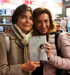 At Git Bookshop, my new friend Livia Trementozzi, on the right, and Carla on the left.