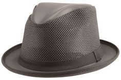 0bd6d409998 Ashbury Brand Player Leather Mesh Fedora Black by Head n Home Hats Hat  Stores