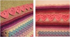 Use this lovely crocheted hearts edging on your next crochet project. It will definitely make anything look prettier and more charming. Get the FREE ...