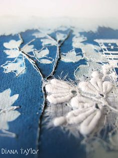 Midnight Garden collage detail by Velvet Moth Studio
