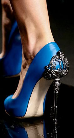 John Richmond's ultra classy and sexy shoes.  My favorite color blue and the heel is exquisite.