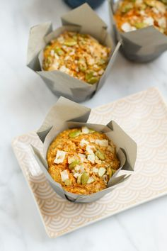 Coconut Carrot Muffins With Seeded Streusel | http://saltandwind.com