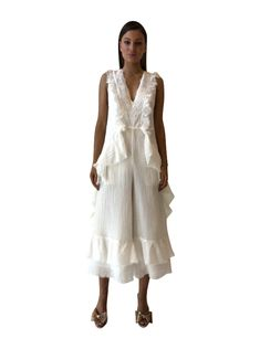 f7f44d38d5e Stevie May Porcelain Sleeveless Jumpsuit in Off White - Stevie May