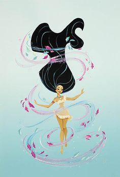 Pocahontas ilustração Pocahontas illustration