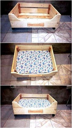 here creative #pallet #projects to provide care and protection to your pets for free, this DIY pallet dog bed would really be super cool for #dog owners....