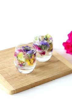 Flower Power Floral Ice Cubes