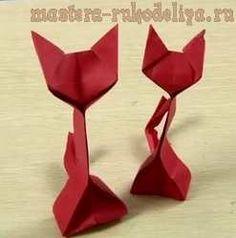 Видео мастер-класс по оригами: Кошка