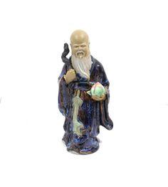 Chinese Shiwan Mud Man Shou Lao by KatsCache on Etsy, $39.95