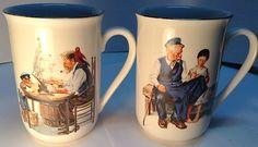 set of 2 coffee mugs 1986 MUSEUM COLLECTION INC. 2 tasses a café
