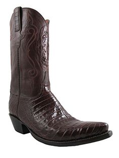 1abcb3f5fb Luccesse Classic caiman men s cowboy boots Belly Leather lucchese crocodile  Leather sole Leather lining 5 toe 4 Heel
