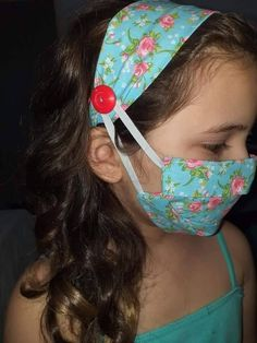 Easy Face Masks, Diy Face Mask, Sewing Lessons, Sewing Hacks, Sewing Art, Sewing Crafts, Old Baby Clothes, Nose Mask, Easy Sewing Patterns