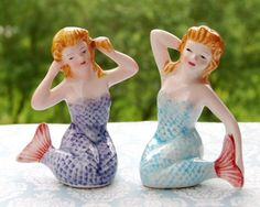 I love mermaids! They are such cute salt and pepper shakers!