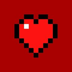 'Heart - Minecraft' Canvas Print by Minecraft Posters, Canvas Prints, Art Prints, Art Boards, Iphone Cases, Photographic Prints, Throw Pillows, Wallpaper, Heart