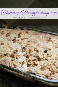 Blueberry pineapple dump cake