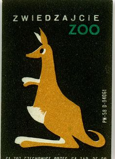 Match Box Label, Zoo by gr8plunder, via Flickr