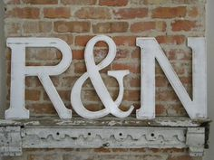 2 Wooden Letters and Ampersand Set 18  Distressed by gracegraffiti, $100.00