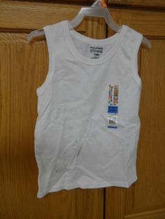 BOYS SHIRT 4T GARANIMALS,TANK TOP ,WHITE - NEW WITH TAGS
