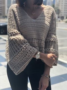 Ravelry: December Bells blouse pattern by Safaa Amin Crochet Woman, Diy Crochet, Crochet Crafts, Crochet Top, Diy Crafts, Crochet Stitches, Crochet Patterns, Skirt Patterns, Coat Patterns