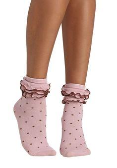 Ruffle the Fun Socks   Mod Retro Vintage Socks   ModCloth.com