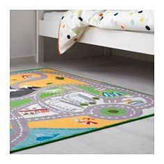 IKEA - LEKPLATS, Rug, low pile, , The latex backing keeps the rug in place when the child runs/plays on it.