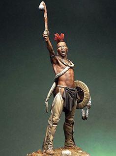 Pegaso Models 75mm Pawnee Warrior Native American White Metal Figure Kit #75-056